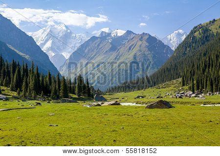 High mountain peak in Kyrgyzstan