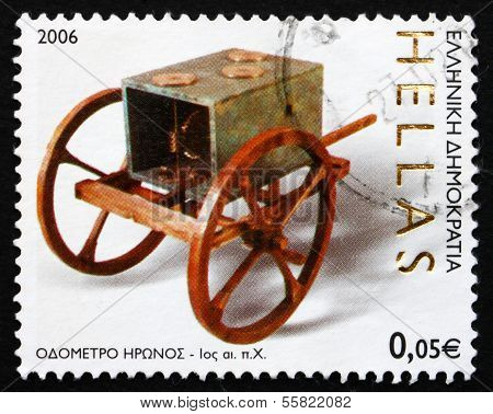 Postage Stamp Greece 2006 Odometer, By Hero Of Alexandria