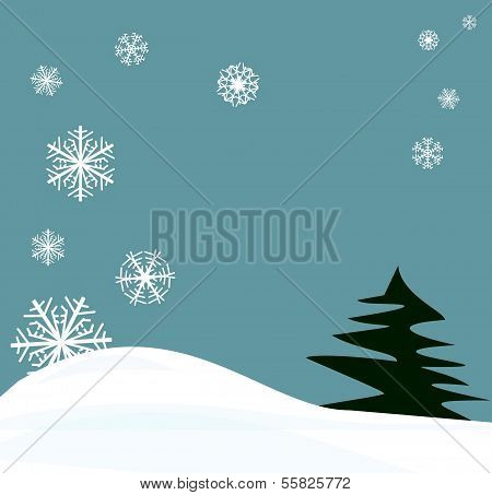 snowflakes winter scene