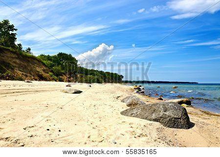 Beautiful Golden Sandy Baltic Beach