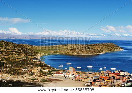 Titicaca Lake, Bolivia, Isla Del Sol Landscape, (island Of The Sun),