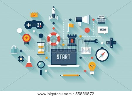 Gamification In Business Concept Illustration