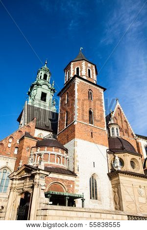 Wawel Cathedral - Famous Polish Landmark On The Wawel Hill In Cracow