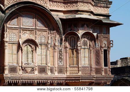 Zenana Deodi,medieval Mehrangarh fort,India
