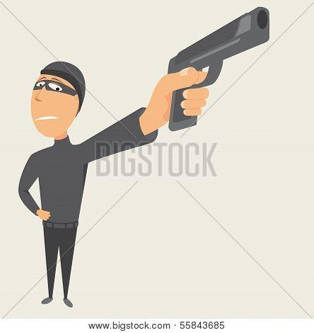Criminal Pointing A Gun / Thief