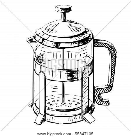 French press tea pot