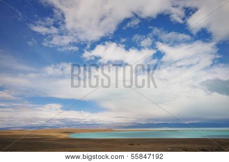 ARGENTINA - FEBRUARY 16: A lake in Patagonia on the border of Chile and Argentina.