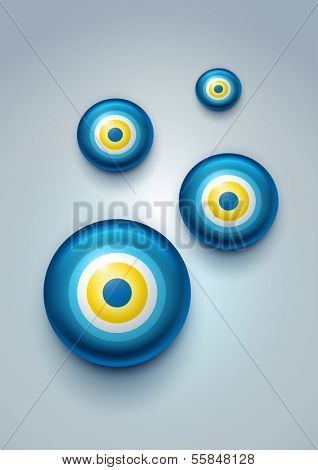 Vector illustration of evil eye - Turkish amulet (nazar boncu?u)