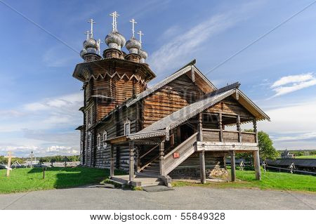 Wooden Orthodox Christian Church at Kizhi island in Russia