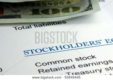 Stockholders financial statement