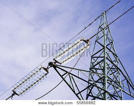 Green High Voltage Pylons