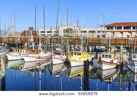 Sailing Boats At Fishermans Wharf