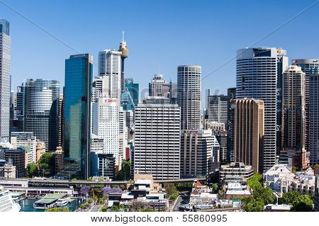 Sydney CBD From The Harbour Bridge