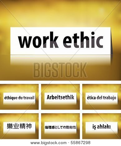 Work Ethic Concept on white background