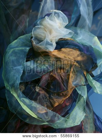 abstract  background organza