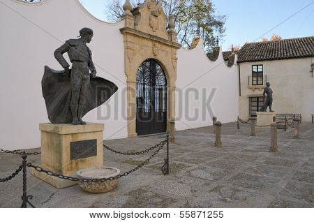 Statues Of Famous Bullfighters