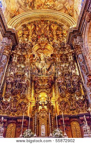 Basilica Altar Piece Church Of El Salvador Seville Andalusia Spain