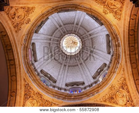 Basilica Dome Church Of El Salvador Seville Andalusia Spain
