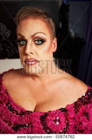 Female Impersonator Close-up