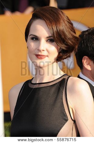 LOS ANGELES - JAN 27:  Michelle Dockery arrives to the SAG Awards 2013  on January 27, 2013 in Los Angeles, CA