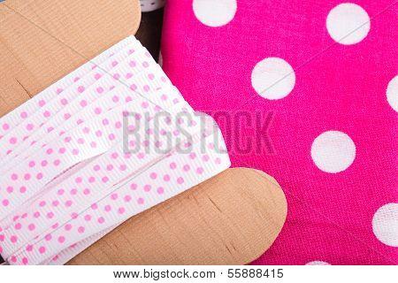 Polka dot textile