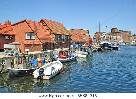 Harbor of Wismar,Baltic Sea,Germany