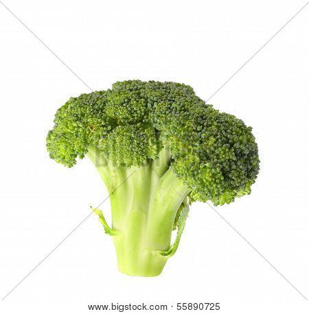 Brokkoli-Gemüse isoliert auf weiss