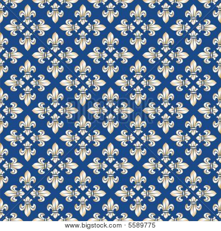 Seamless royal texture with fleur-de-lis