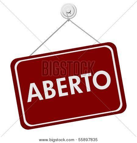 Aberto Open Sign
