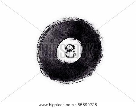 8 Ball Billard Ball
