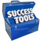stock photo of objectives  - Success Tools Toolbox Succeeding Goal Skills - JPG
