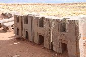 image of pumapunku  - Identical figured blocks of Puma Punku Ruins - JPG