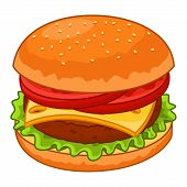 pic of hamburger  - Hamburger icon - JPG