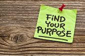 pic of handwriting  - find your purpose   - JPG
