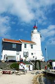 Lighthouse Paard Van Marken In Afternoon, North Holland, Netherl