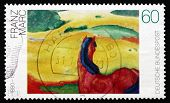 Postage Stamp Germany 1992 Landscape With A Horse