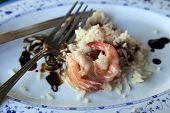image of souse  - Cooked rice and prawns with sweet souse - JPG