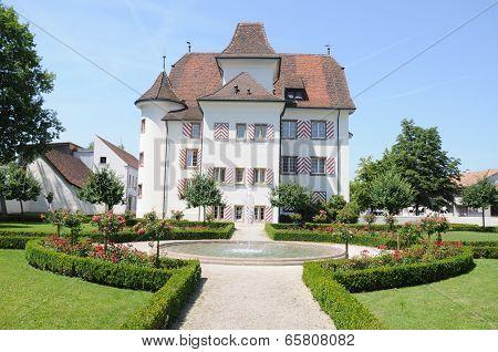 Aesch, Switzerland - July 22 2012 - Blarer Castle