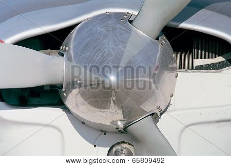 Airplane Propeller Detail In An Aerodrome