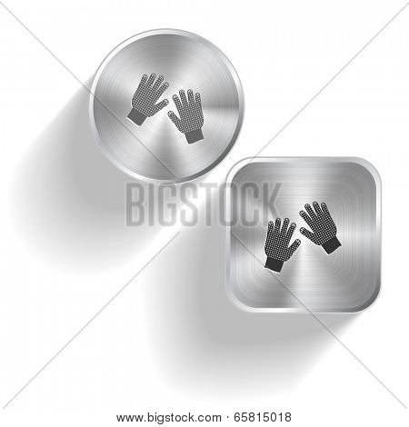 Gauntlets. Vector set steel buttons