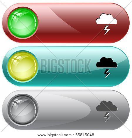 Storm. Vector internet buttons.