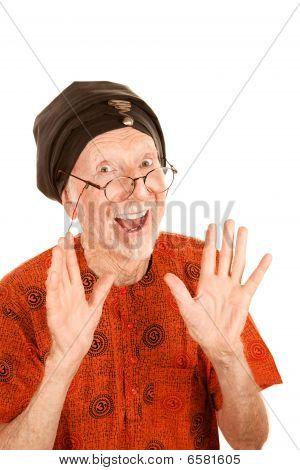 Happy New Age Senior Man In Turban
