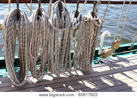 Ropes on the boat