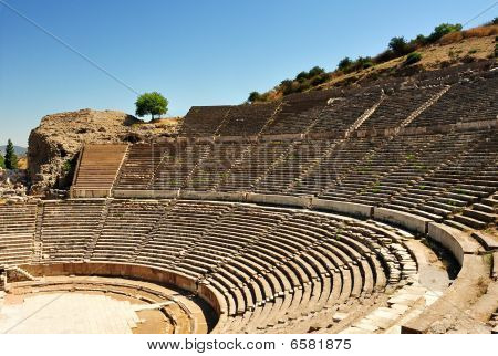 Amphitheatre At Ephesus, Turkey.