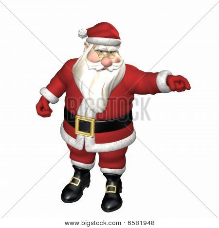 Santa Pointing Sternly
