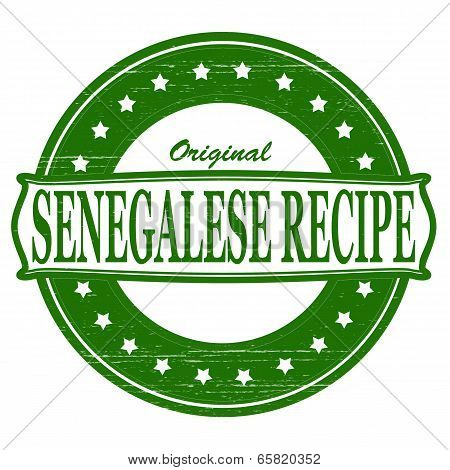 Stamp with text original Senegalese recipe inside vector illustration
