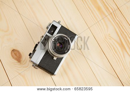 Old vintage rangefinder film camera