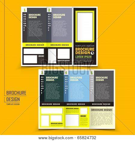 Vector Tri-fold Business Brochure Design