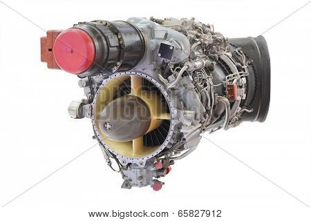 turbo jet engine under the white background