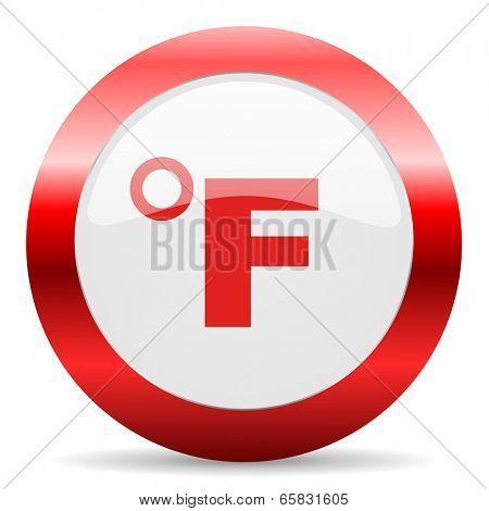 fahrenheit glossy web icon